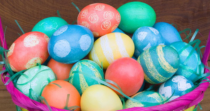 Dye Easter eggs using food color