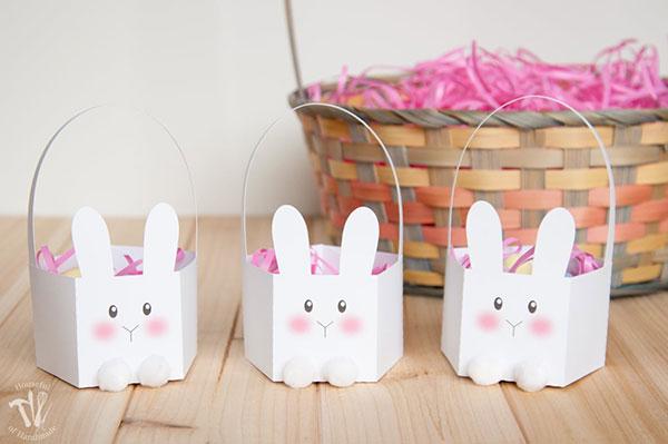 Bunny shaped Easter Basket
