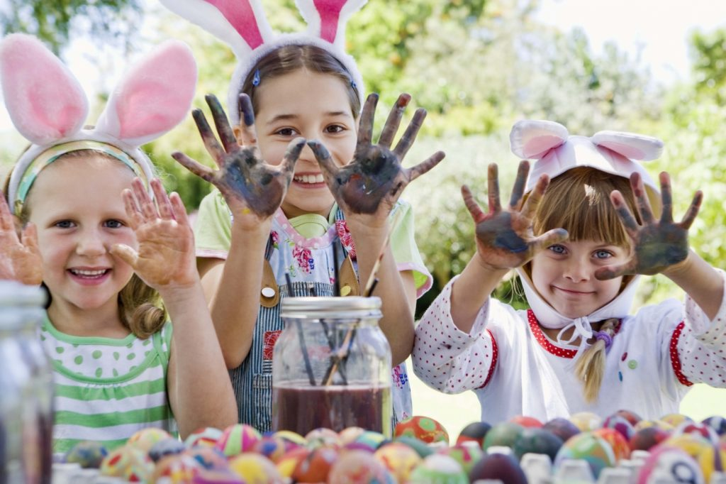 Children activities on Easter Monday