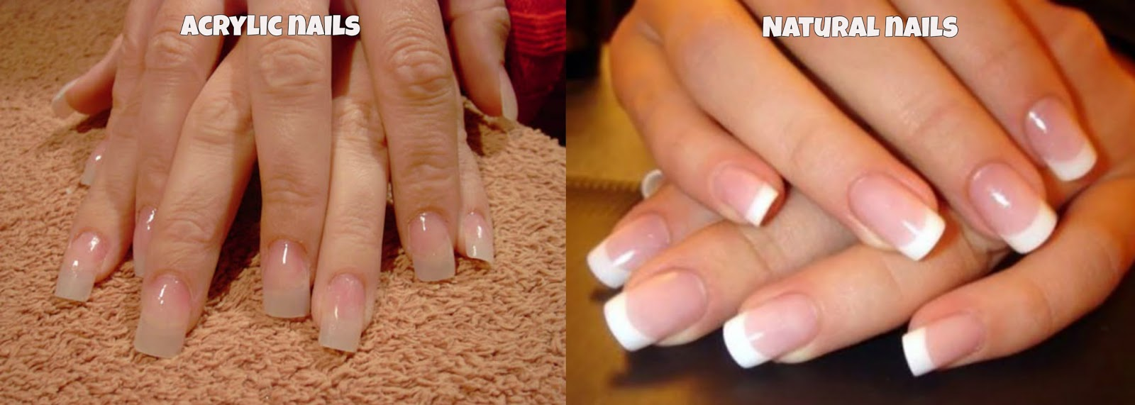 Difference between Acrylic and real nails
